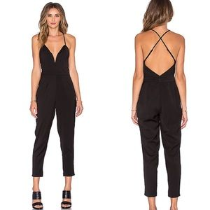 Black Jumpsuit Crossback with Zipper